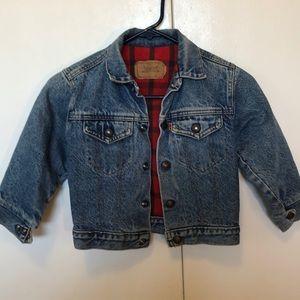 Levis Vintage kids fully Flanned lined jacket
